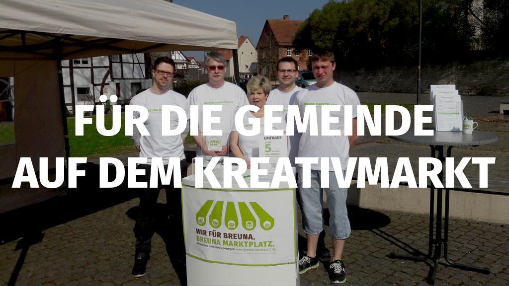 Breuna Marktplatz Arbeitsgruppe auf Kreativmarkt in Breuna 2017